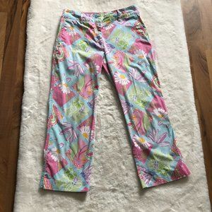 Lilly Pulitzer floral colorful capri pants size 4